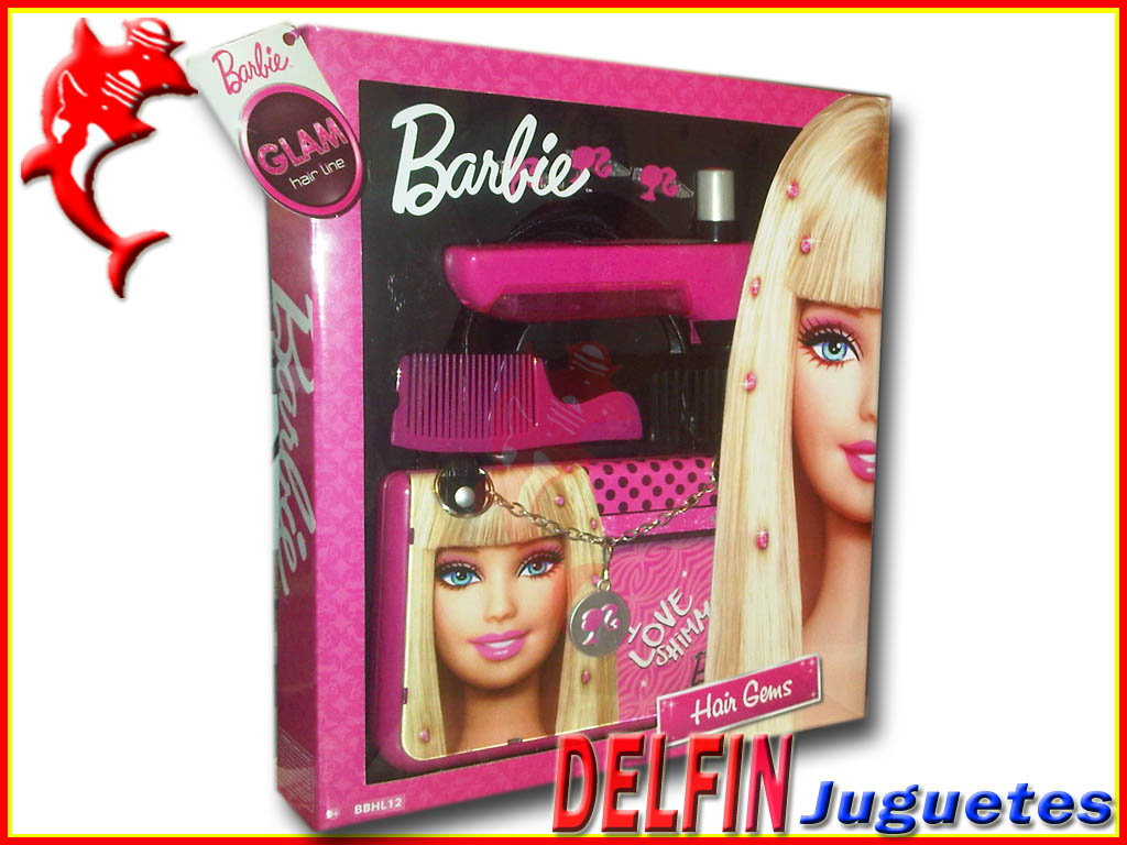 Barbie glam hair gems