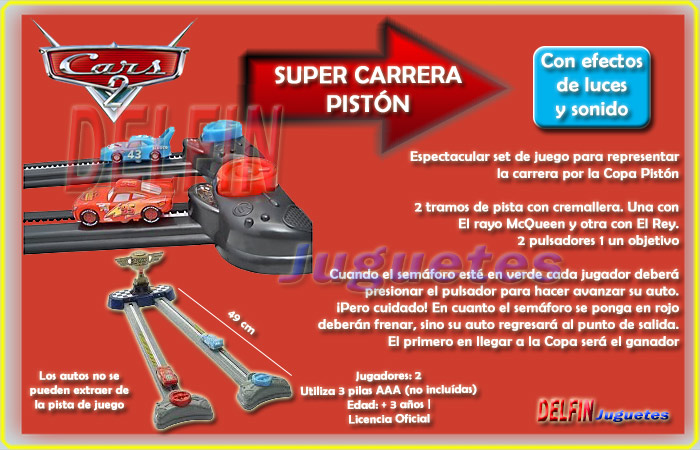 Disney Pixar Cars super carrera piston