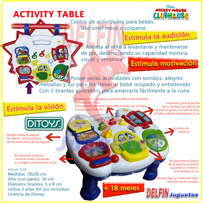 Disney Mickey Mouse Activity Table