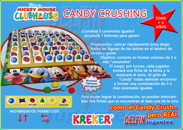 disney mickey mouse clubhouse candy crushing