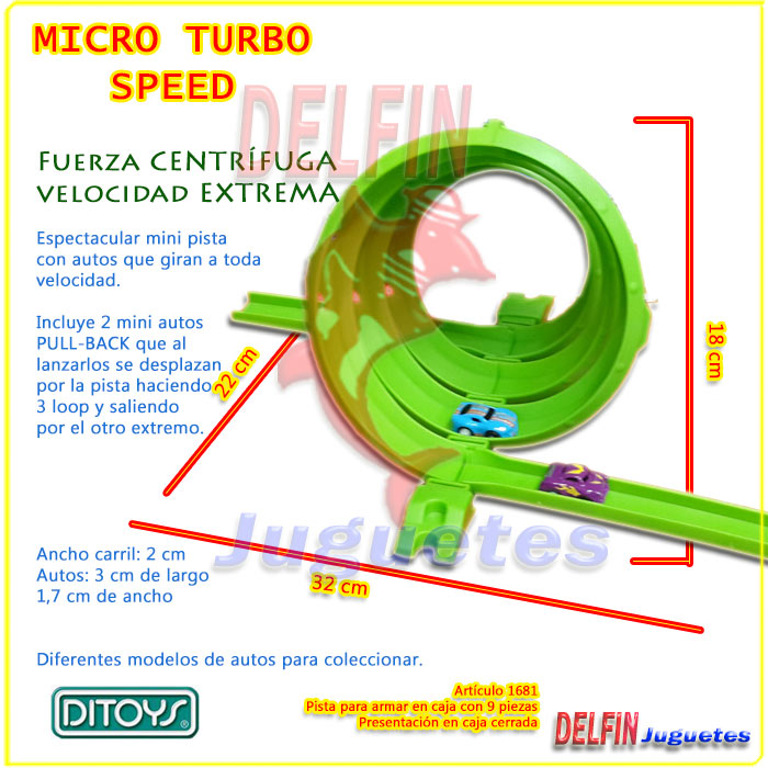 MICRO TURBO SPEED PISTA DE AUTOS MINI PULLBACK