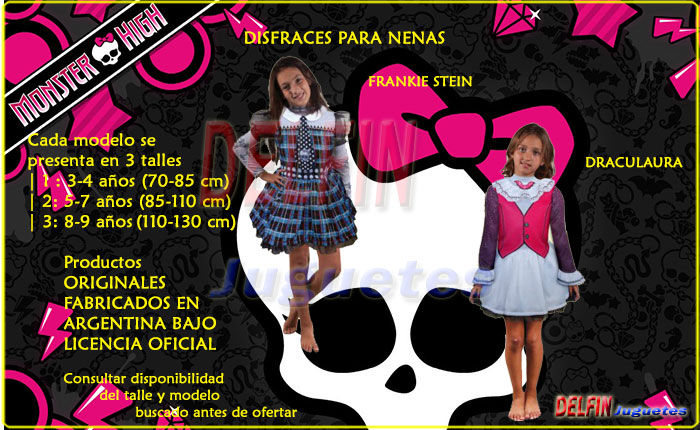 MONSTER HIGH DISFRACES