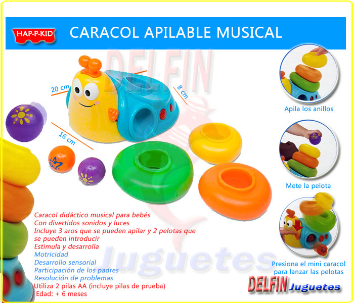 caracol apilable musical